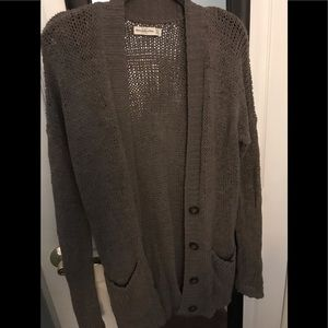 Gray/brown cardigan